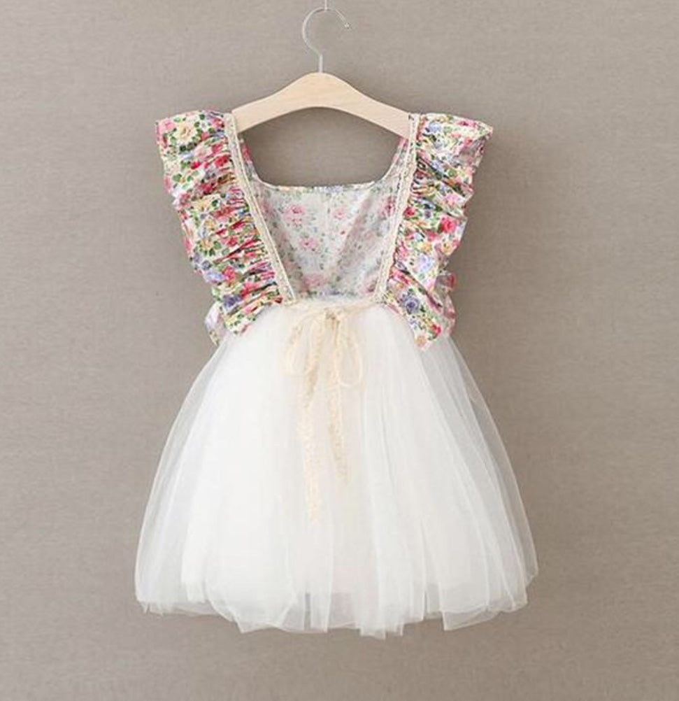 Ice cream floral dress for girl birthday party ideas
