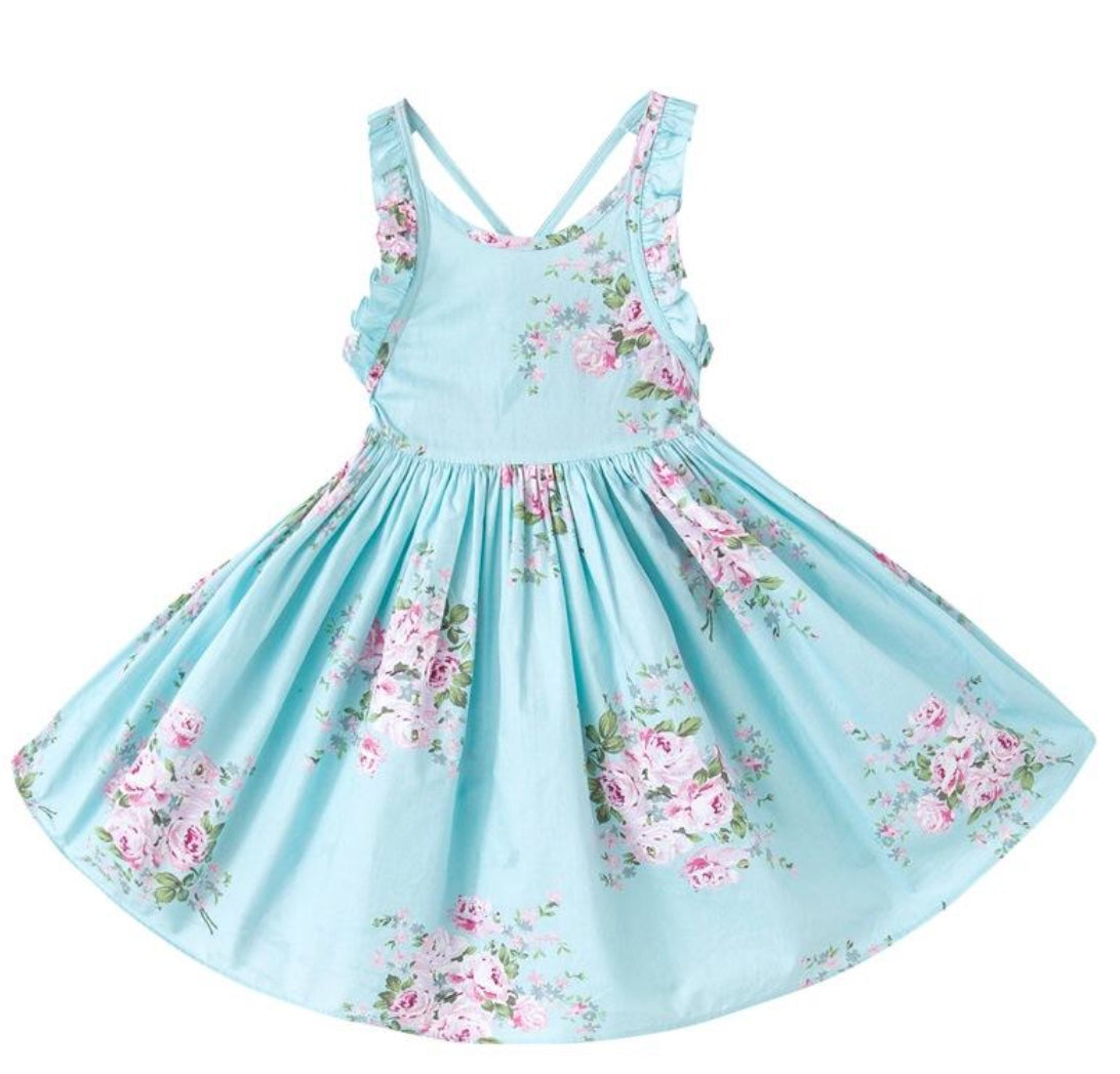 Tea Party Floral Girls Dress