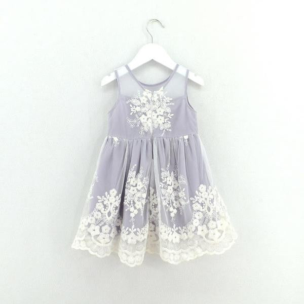 Lace detailed girl and toddler dress for weddings