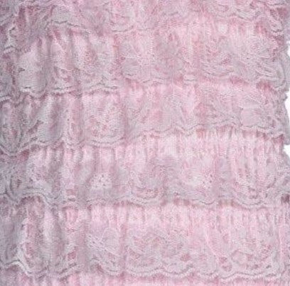 light pink baby petti romper lace little sister