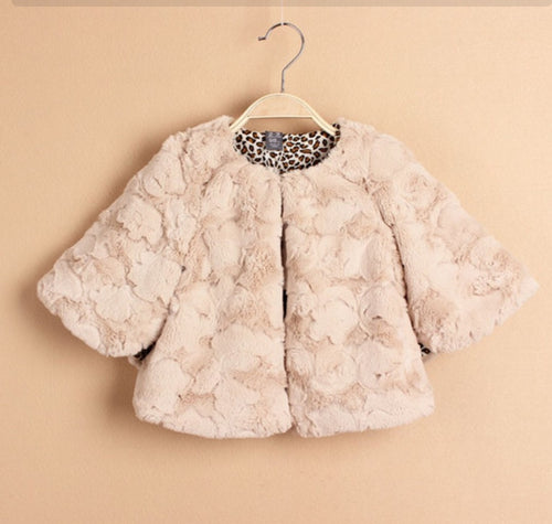 Fur Over Jacket for Girls