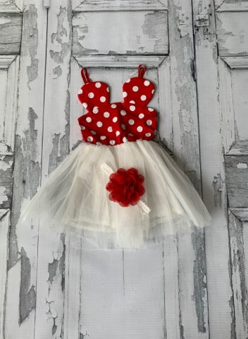 Red and White Minnie Dress