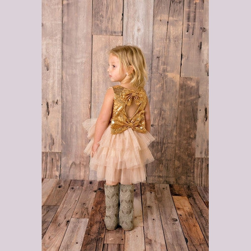 Tiered Ruffle Sparkle Dress