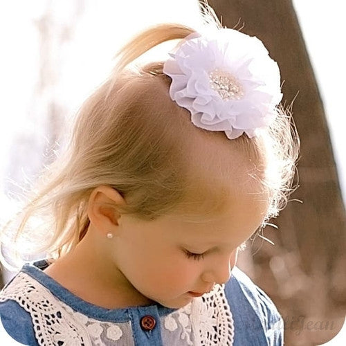 Angie's Large White Flower Barrette