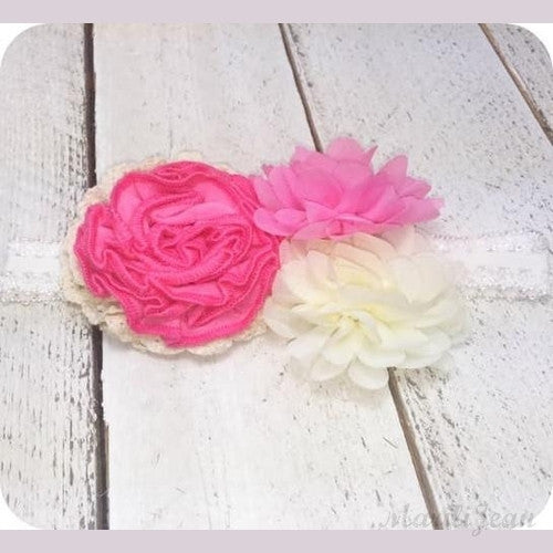 3 Blooms Splash Headband