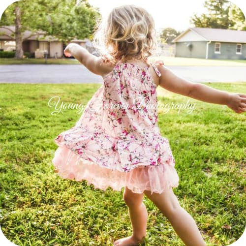 Pink Florals Girl Dress