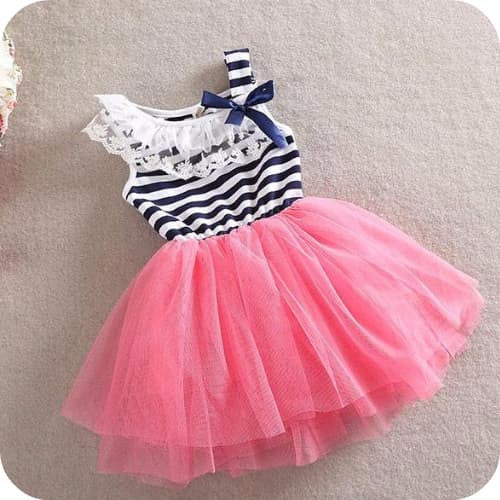 Pink Sailor Striped Dress