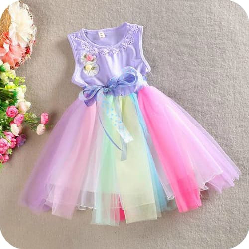 Rainbow Tulle Dress - Marili Jean Girl's Clothing Boutique