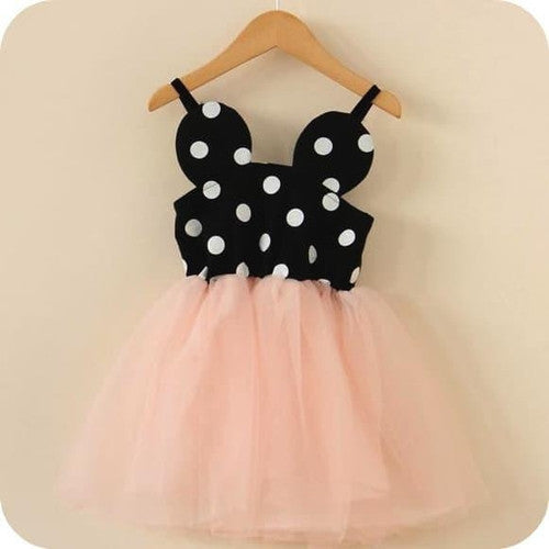 Minnie Dress Mouse Dot Pink Tulle