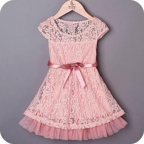 Lace in Pink Girl Dress