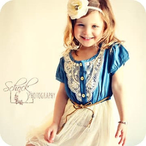 Cowgirl dress - vintage girl dress - toddler cowgirl