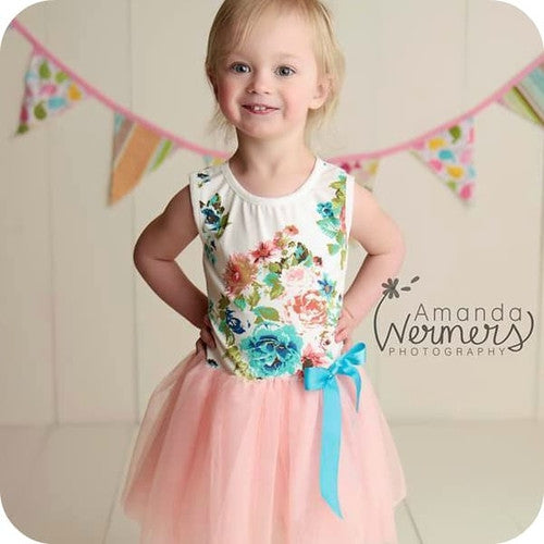 Avery's Garden Pink Dress  big Sister Dress- Marili Jean Girl's Clothing Boutique