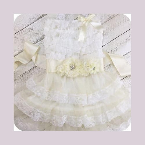 Nora's Ivory Flower Dress