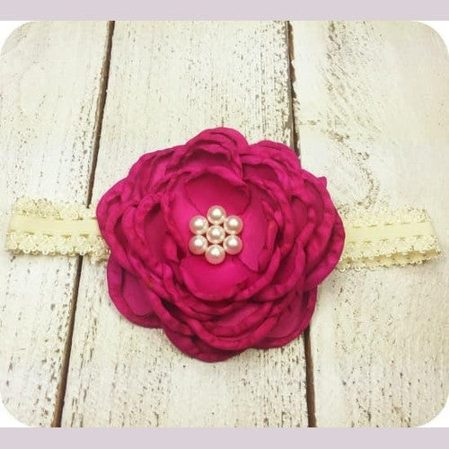 Poppy's Headband Bright Pink