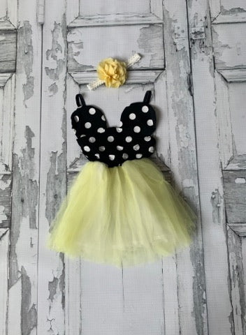 Yellow Minnie Mouse Dress