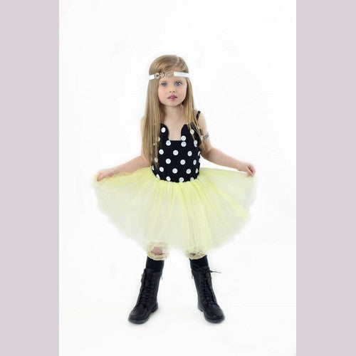 Minnie Dress Mouse Dot Yellow Tulle