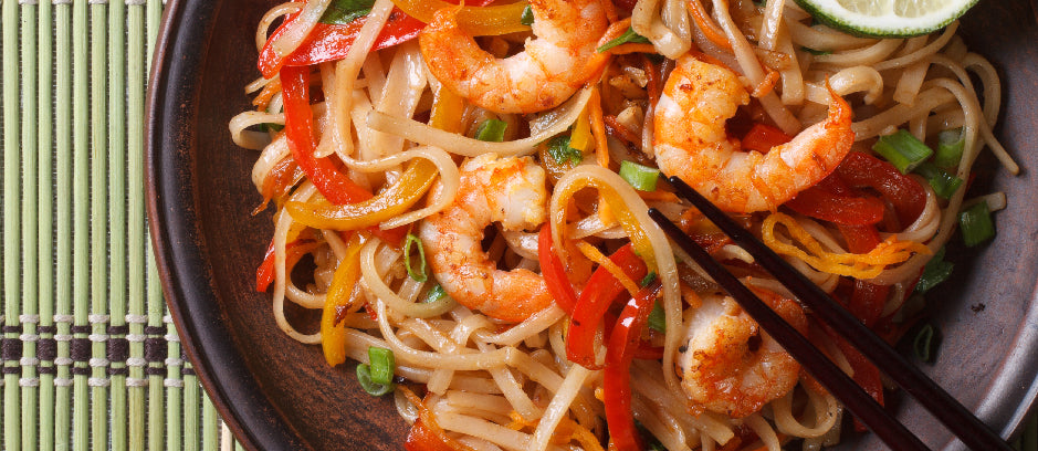 Shrimp Noodle Salad with Wildly Delicious Korean BBQ Sauce