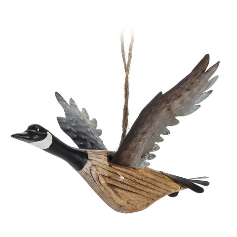 Flying Canada Goose Ornament