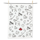Canada Icons Tea Towel