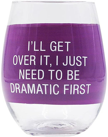 """Dramatic"" Wine Glass"