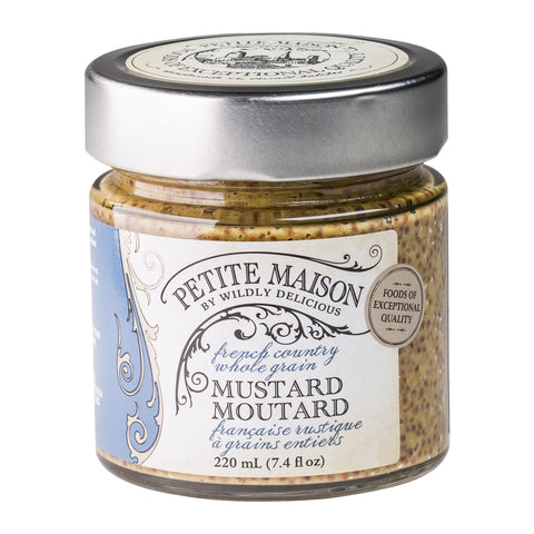 French Country Whole Grain Mustard | Moutarde Française rustique à granis entiers
