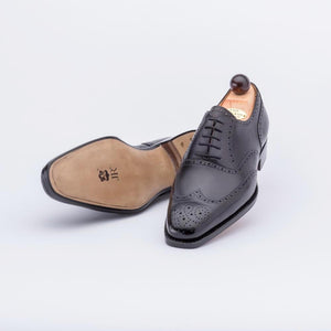 Brand New Vass Full Brogue oxford - Dark Brown Calf - thestylerush.com