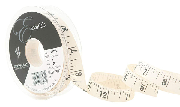 15mm Black Tape Measure Print Ribbon