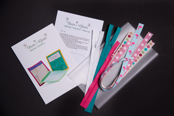 Project Pocket Set- Jade/Bright Pink/White