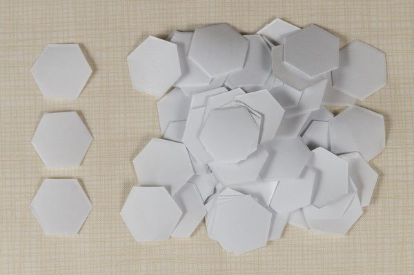 100 Freezer Paper Hexagons- 1/2""