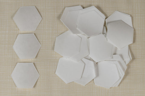 50 Freezer Paper Hexagons- 3/4""