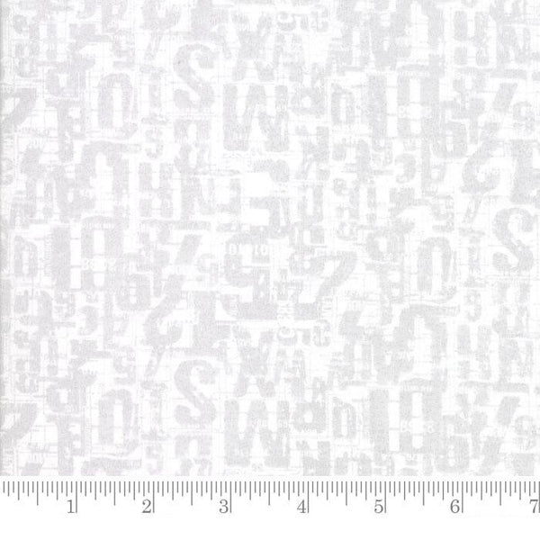 Moda Fabric Compositions Number Jumble White