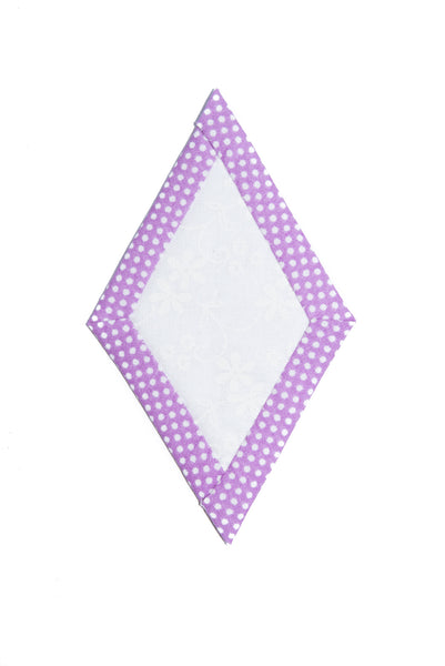 Quilt as you go Diamond template 1 3/4""