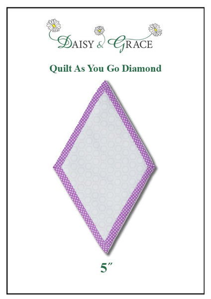 NEW IN! Quilt as you go Diamond template 5""