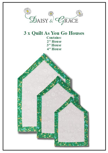 "Set of 3 QAYG House templates 2"", 3"" & 4"""