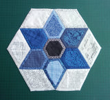 """Quilt as you go"" Star in a Hexagon- Set of 3 templates"