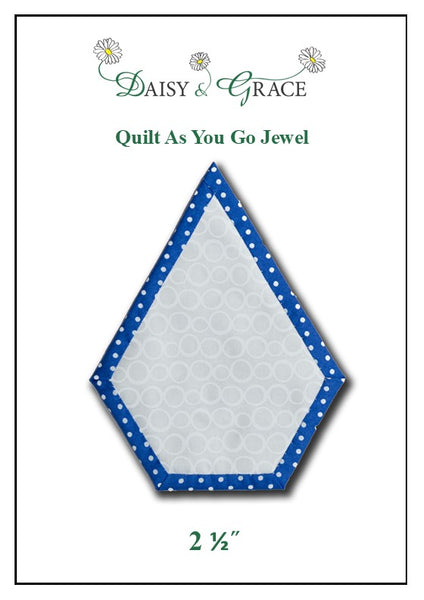 "Quilt as you go 2 1/2"" Jewel template"