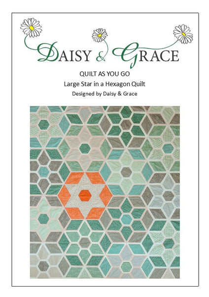 Large Star in a Hexagon Quilt Pattern