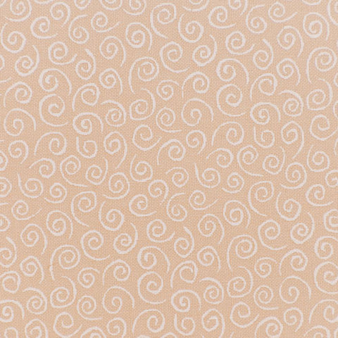 Moda Mini Swirls white on cream