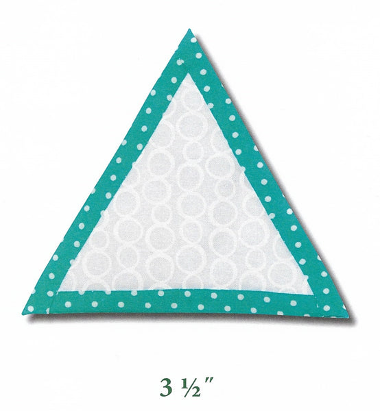 "3 1/2"" Triangle Quilt as you go template"