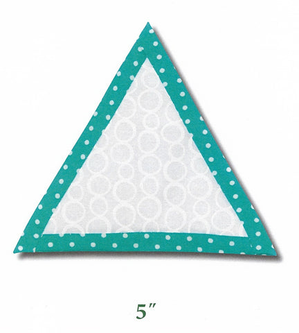 "5"" Triangle Quilt as you go template"