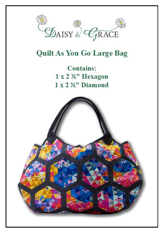 Quilt as you go Large Bag Template set