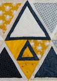 "2 1/2"" Triangle Quilt as you go template"