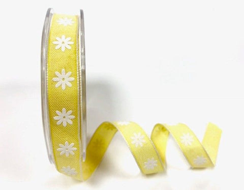 15mm Lemon Daisy print ribbon
