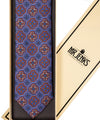 Classic Ornamental and Floral Purple Silk Tie - Mr. Jenks