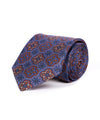Classic Ornamental and Floral Purple Silk Tie