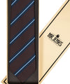 Royal Irish Poplin Brown and Blue Striped Tie - Mr. Jenks