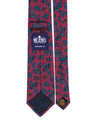 Royal Irish Poplin Burgundy Paisley Tie