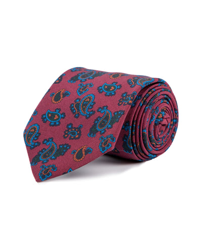 Royal Irish Poplin Burgundy Paisley Tie - Mr. Jenks