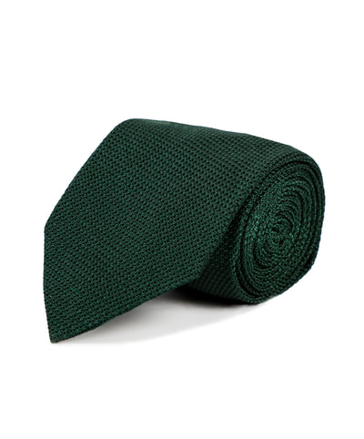 Dark Green Grenadine Silk Tie - Mr. Jenks