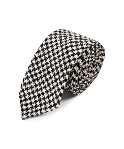 Classic Dogstooth Wool Tie - Mr. Jenks